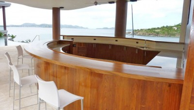 Teak Bar Project St John - Blue Fin Home Builders